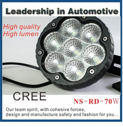 6.5 Inch Round Offroad Use ,High Lumen 9-32V Led Work light ,70W led driving light
