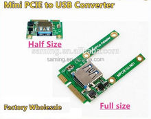 MPCIE to USB Converter Mini PCI Express to USB 2.0 Adapter