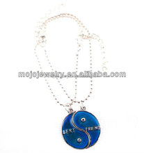 2015 Cheap and High Quality Custom Yin Yang Pair Necklace