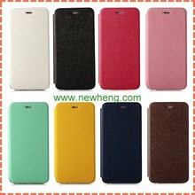 Ultra thin Oracle Grain Stand Flip Pu Leather Case For iPhone 6