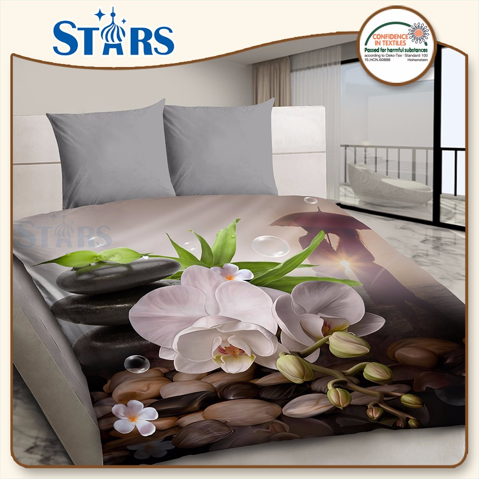 GS-PANSO-02 beautiful polyester material flower bed room set