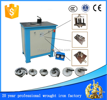 wrought iron steel scroll pattern bender ferforje machine design