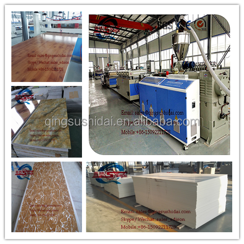 extruder production thin process machinery plate extrusion line sheet making plastic pvc foam board manufacturing machine