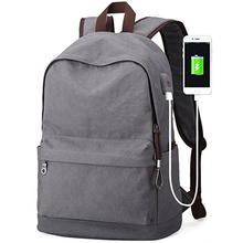 15 inch travel vintage canvas felt computer bags laptop bag with usb charging