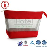 Hotel Travel Wholesale Korean Make up PVC Non-woven Cosmetic Bag