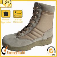 Hot sell waterproof tan military cheap army desert boots