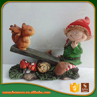 Factory Custom-Made High Quality Polyresin Baby Christmas Gift Of Nature Craft Garden Ornaments