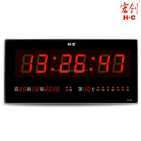 HC226 Quality Assurance Hanging Type Led Wall Time Clock