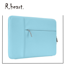 Polyester Vertical Style Water Repellent Laptop Sleeve Case Bag Cover with Pocket laptop lap desk bean bag