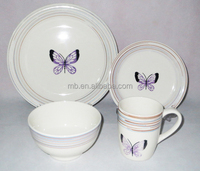 Best Selling Products in Europe Tableware Wholesale 16pcs Hand Painting Stoneware Dinner Set