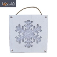 Christmas snowflake shaped cheap carved wood picture photo frame