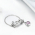 Fashion 925 Sterling silver letter LOVE Purple heart chain Ring for Women