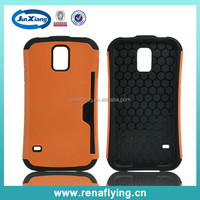Hot china products 2 in 1 tpu pc case for Samsung S5 with card slot