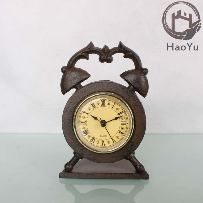 cast iron antique decorative table clock for home decoration