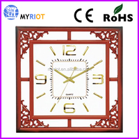 HOT SELL 16 inch skeleton frame decor plastic chinese antique clock