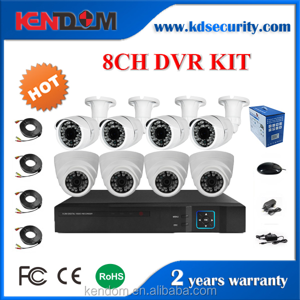 Kendom Home and Outdoor Video Surveillance System 8CH CCTV Camera DVR Kit
