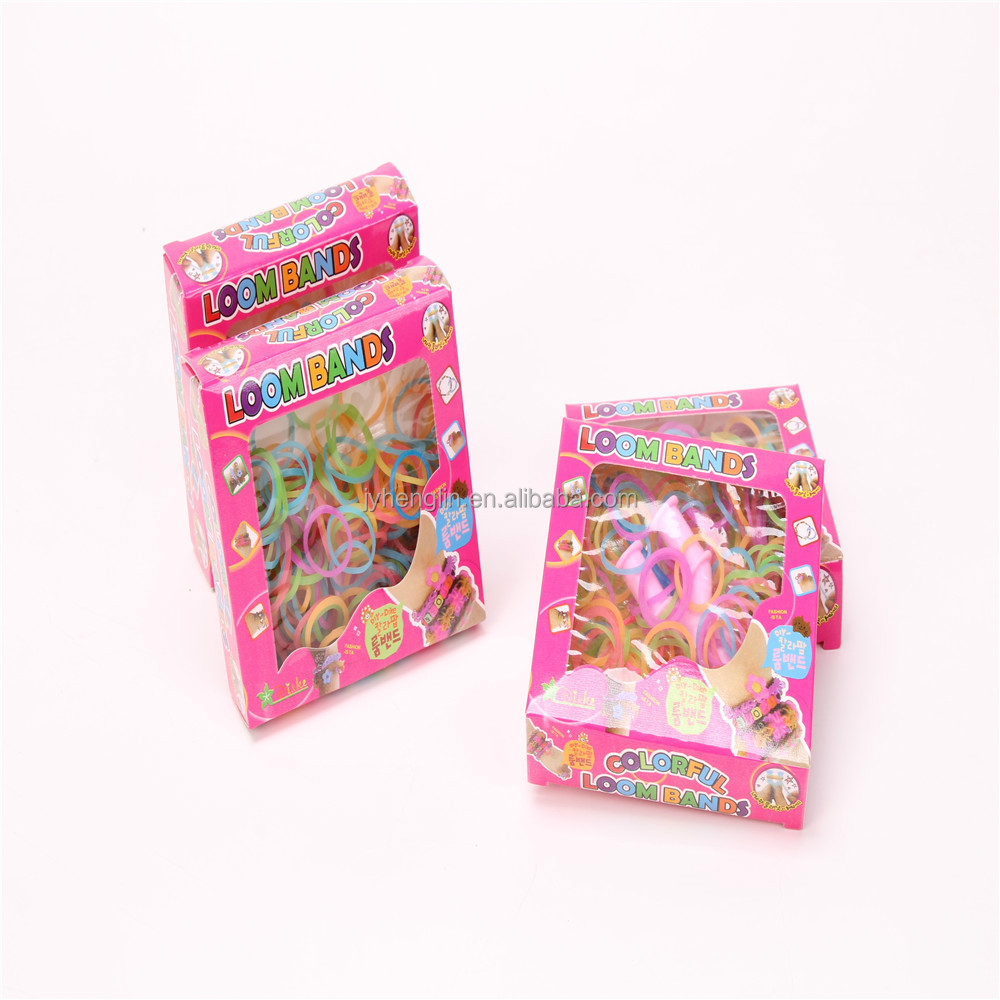 2015 china Boxes Packing New Colourful Loom Rubber Bands Bracelet patterns