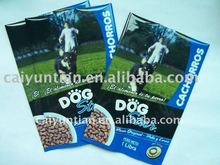 2012 New design Plastic PET/AL/PE Stand up Dog food packaging bag