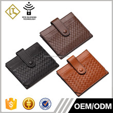 Top quality business card holder real weave grain leather name card holder