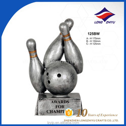 Customised design cheaper price bowling trophy