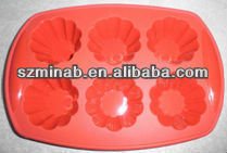 2102 new design silicone muffin cup with flower shape