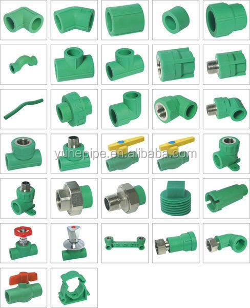 high quality plastic pipe factory supply plumbing materials