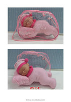 11 inch alive mini baby dolls toy with lovely sleeping figure