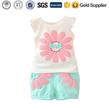 Toddler Baby Clothing Sets Bow Sunflower Summer Girls Clothes Suits