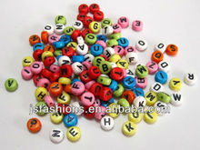 alphabet letter acrylic beads jewelry beads necklace beads wholesale and retail