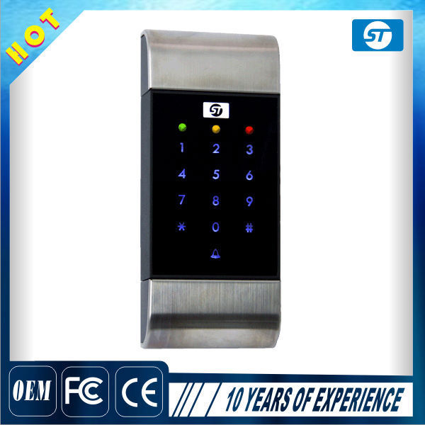 RFID Outdoor Metal Case Waterproof Door Access Control touch keypad Smart Card Reader