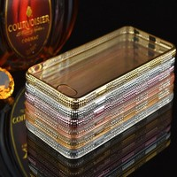 Hot selling three diamonds rows tpu plating cell phone case