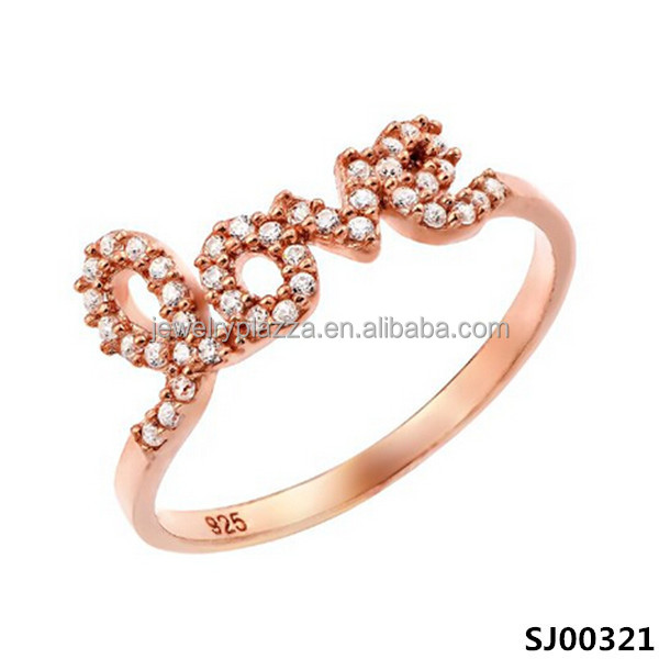 Classic wedding love ring 925 sterling silver jewelry fashion accessories wholesale