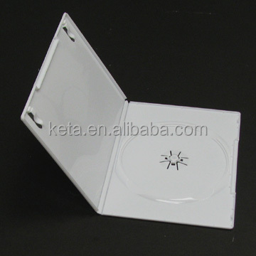 7mm Milk White Single Slim Soft Plastic Long DVD Case