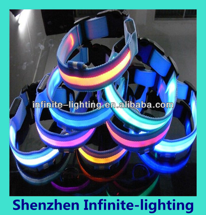 Design discount high quality led dog collar diy/flashing dog collar