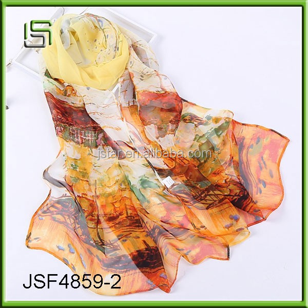 Colorful scarf long section of the wholesale female scarf silk scarves town impression