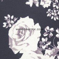 flower Printed nylon polyester satin corduroy fabric for hometextile bedding furniture upholstery