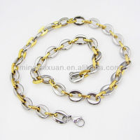 fashion high quality stainless steel with gold/steel color 2013 charm necklace jewelry