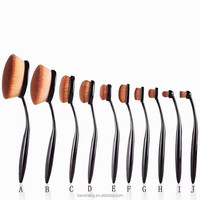 professional beauty oval 10pcs makeup brush synthetic hair makeup brushes toothbrush shape