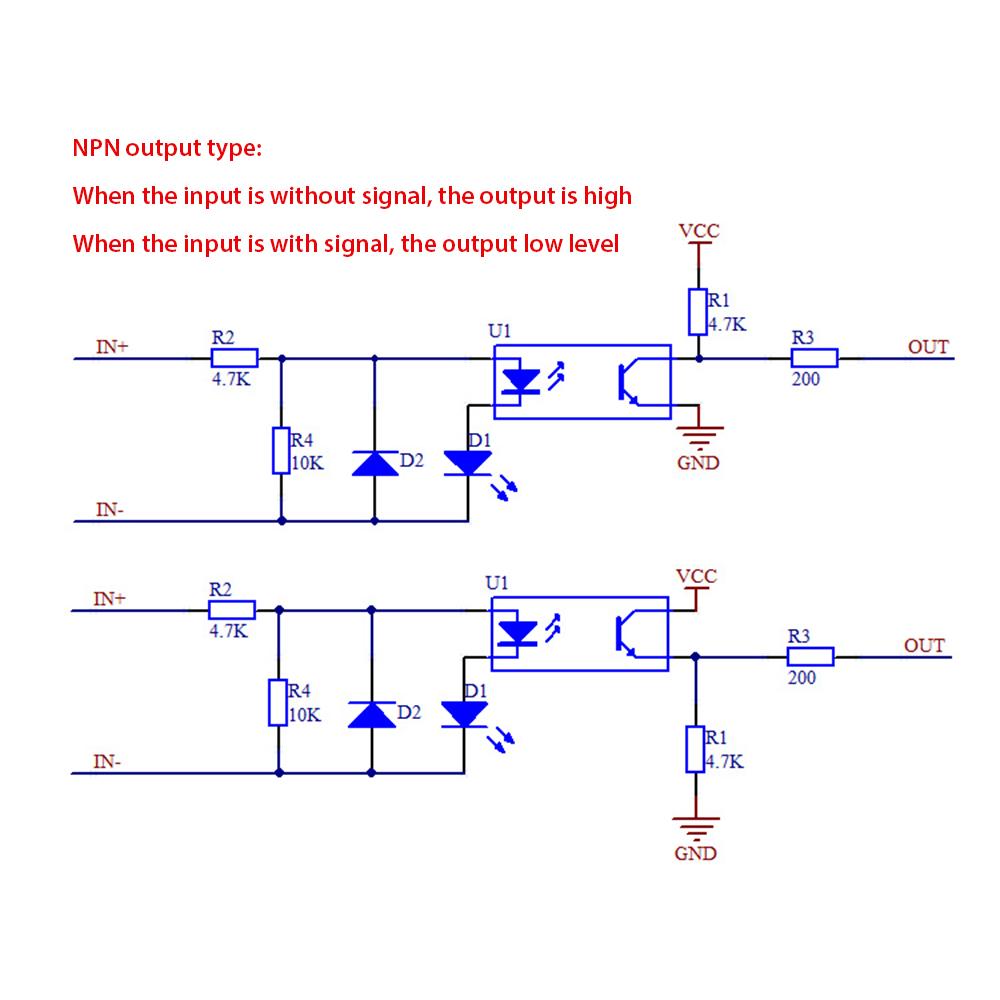 Circuito Optoacoplador : El357n c aislamiento optoacoplador módulo 12 v entrada npn salida