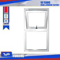 Plastic window and door swing opening awning window with double glass