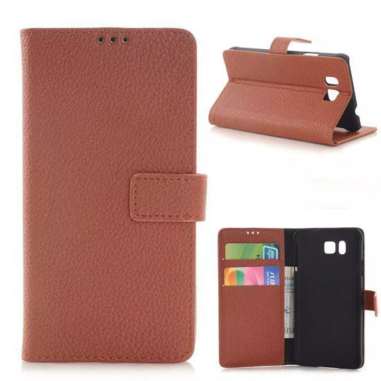 2014 High Quality Leather Pouch Case For Samsung Galaxy Alpha,Open From Right to Left