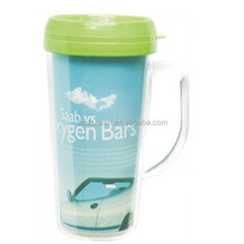 Double Wall Paper Insert Plastic Travel Mug