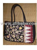 Black Contemporary Batik Hand Bag