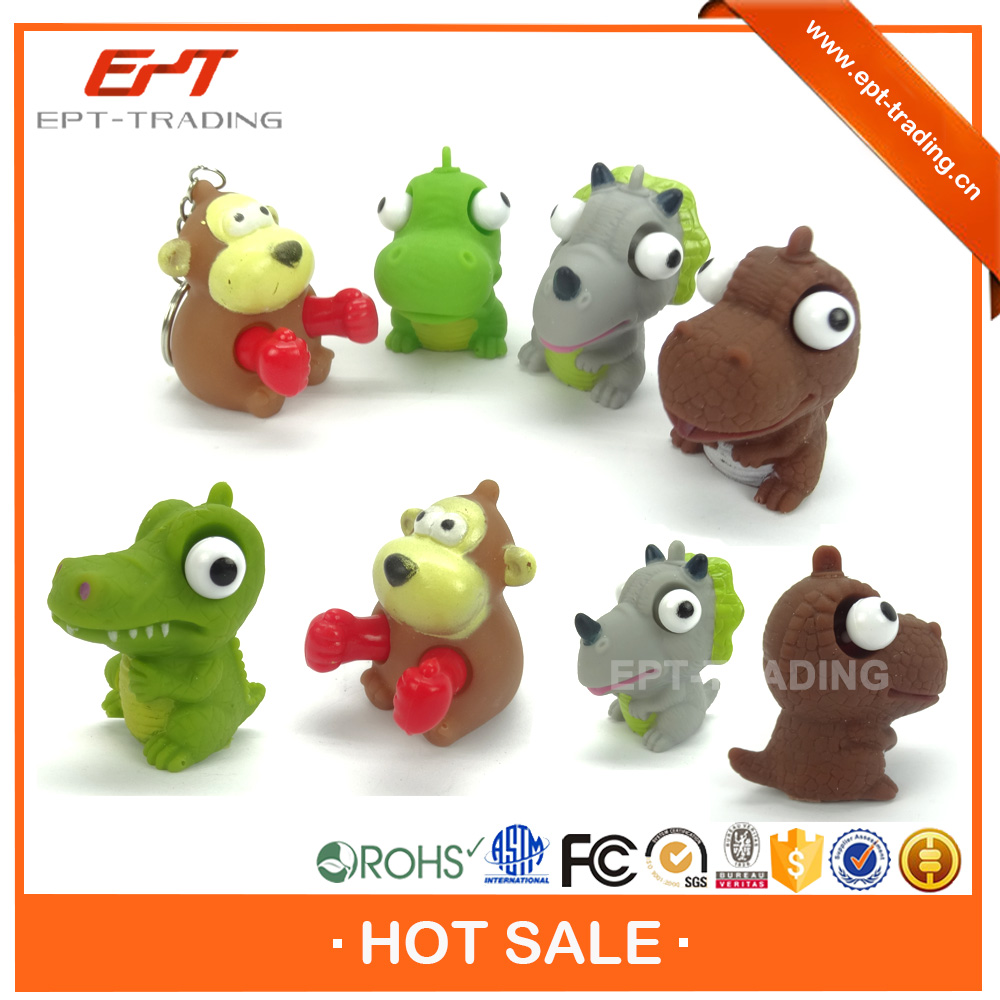 Mini souvenir keychain eyes pop out squeeze toys