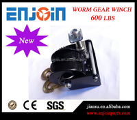CE SGS approved manufacturing 600lbs split drum worm gear barge winch