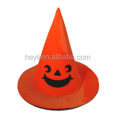 Funny halloween pumpkin witch hat party hat for adult