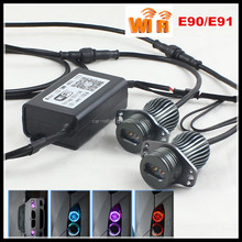 2016 New Design Wifi RGB Led Marker Angel Eyes For Bmw 3 Series E90 E91 RGBW Color Changing Daytime Running Light DRL Headlight