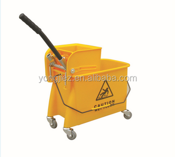 Wholesale hand wringer mop washing bucket