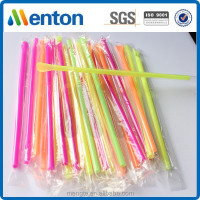 Chinese hot sale filmwrapped hard disposable spoon straw