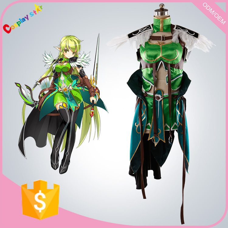 Game Elsword Rena sexy cosplay cosutme for adults women free shipping